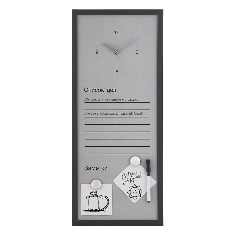 Доска для записей магнитная с часами