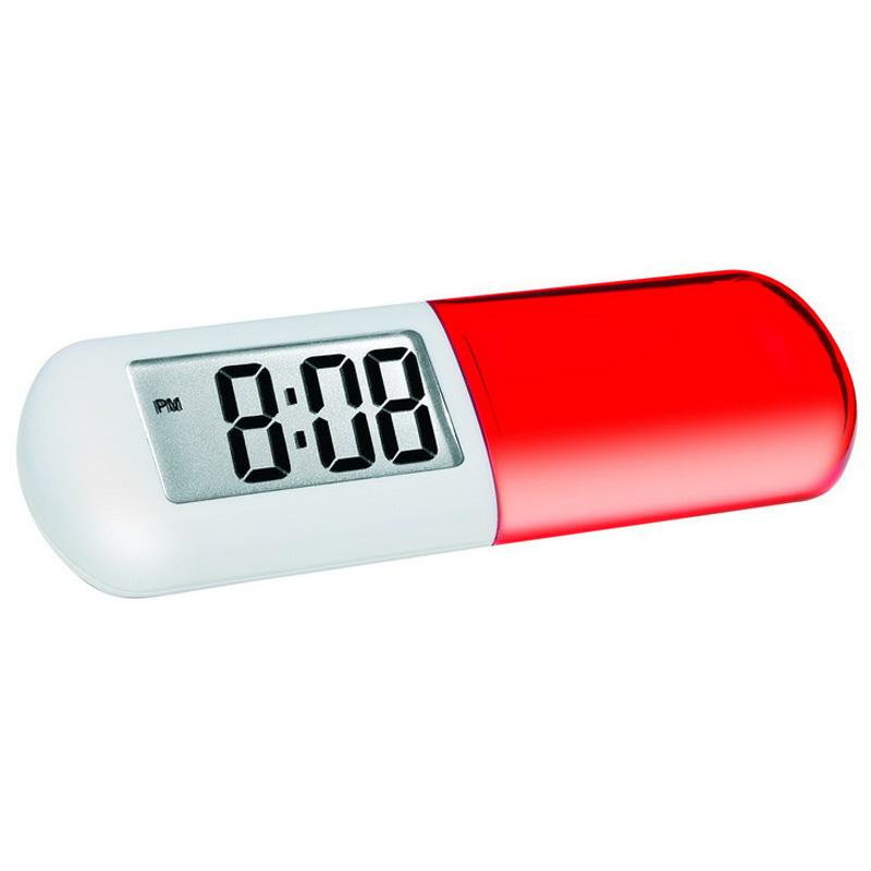 Часы-будильник с отсеком для таблеток