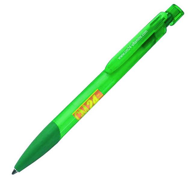 Ручка ADFIRE FROSTY шарик Цвет желтый Цвет зеленый