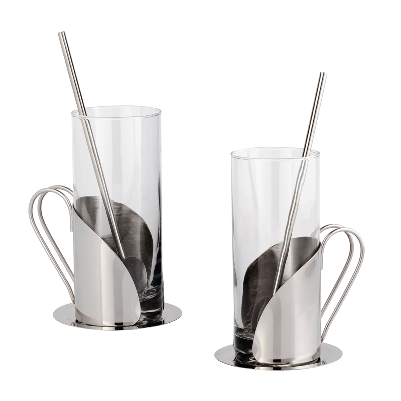 Набор стаканов с ложками