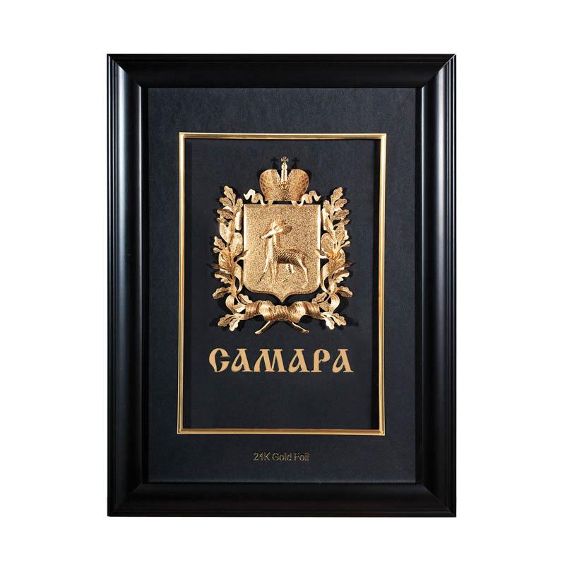 Герб Самары объемный Цвет