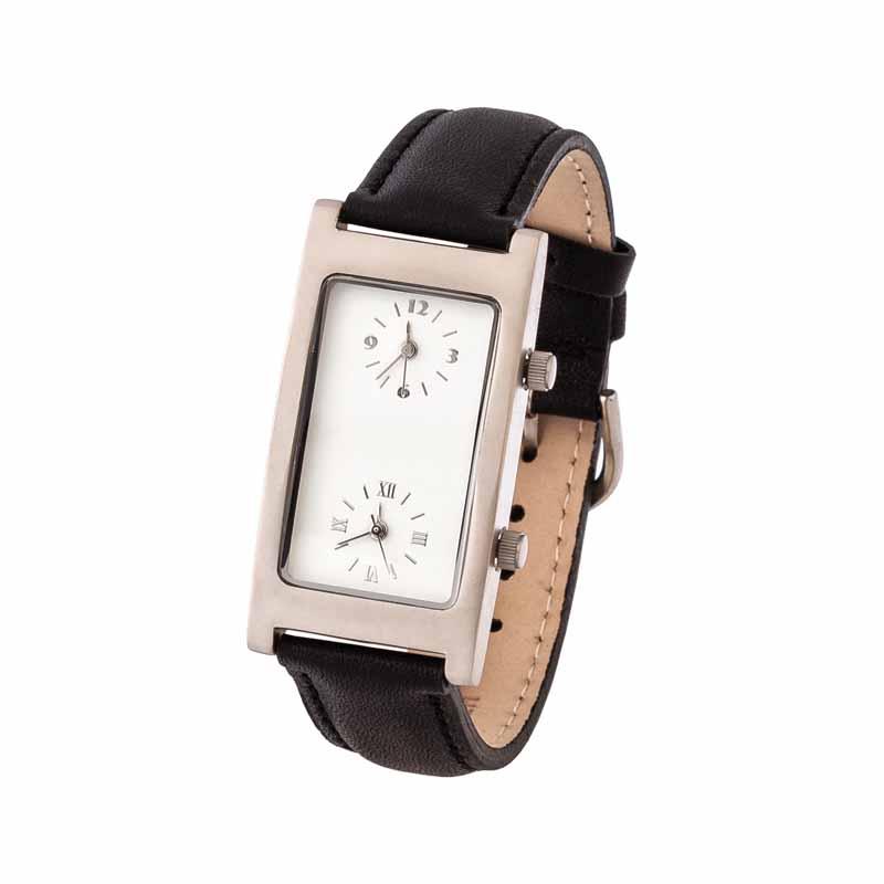 Часы наручные с двумя циферблатами