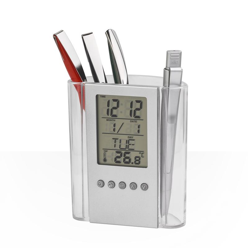 Часы-подставка для ручек