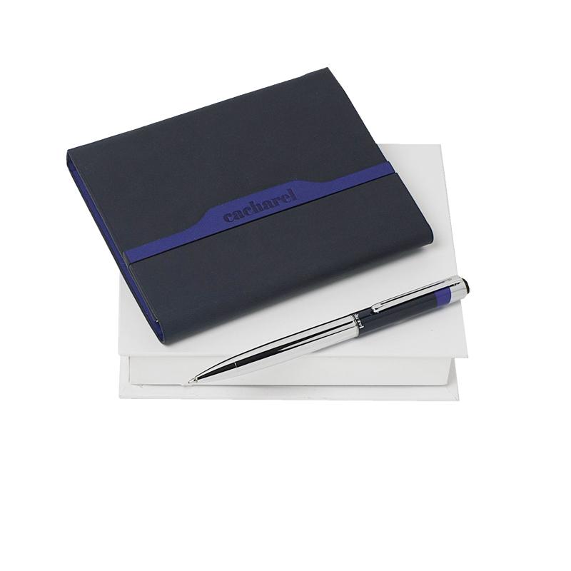 Набор  London Bleu (записная книжка, ручка шариковая)