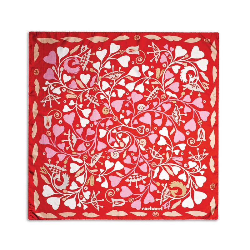 Платок шейный Fairy Garden Red
