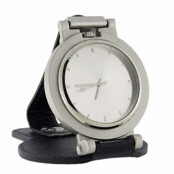 Напоясные часы Цвет синий с серебром