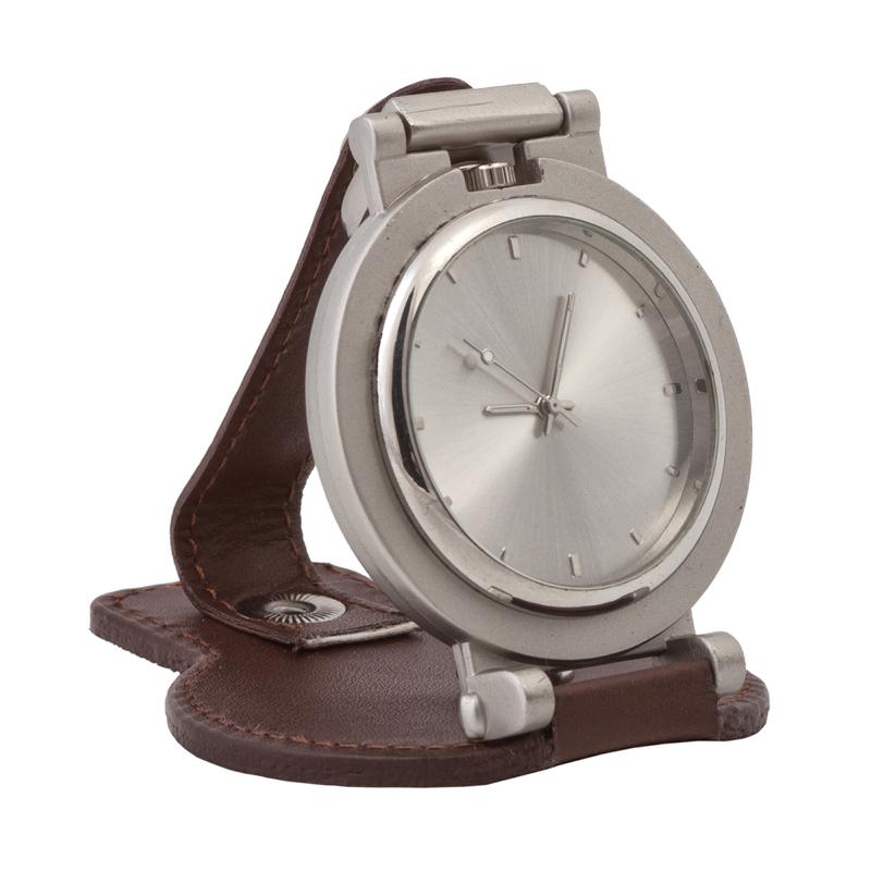Напоясные часы Цвет коричневый с серебром