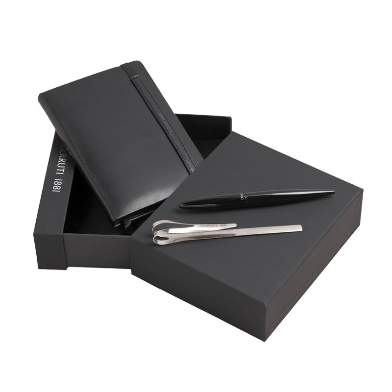 Набор (записная книжка, ручка шариковая, клип для ручки)
