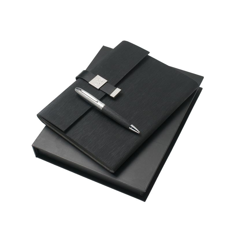 Набор (записная книжка А5, ручка шариковая) Цвет черный