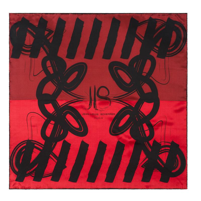Платок шелковый Reflection Red