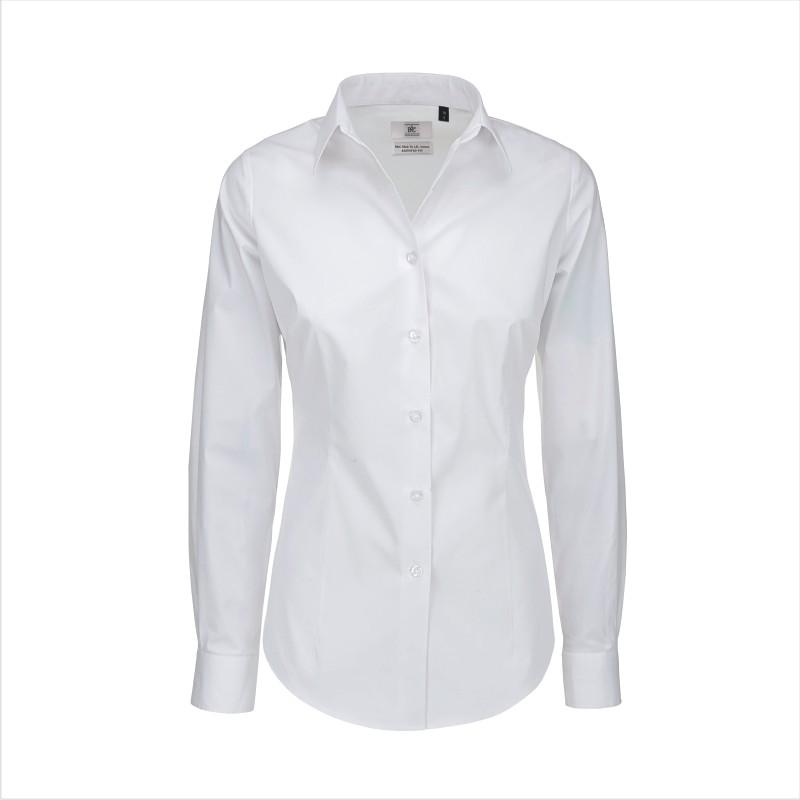 Рубашка женская с длинным рукавом Black Tie LSL/women Цвет бордовый Размер S Размер M Цвет белый Размер XS