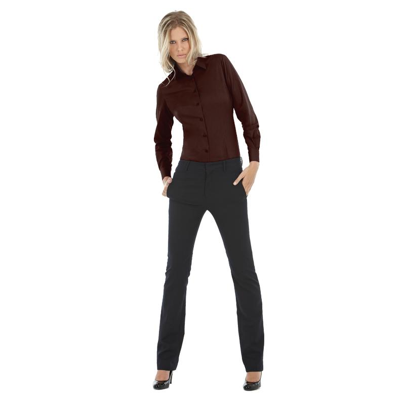 Рубашка женская с длинным рукавом Black Tie LSL/women Цвет бордовый Размер S