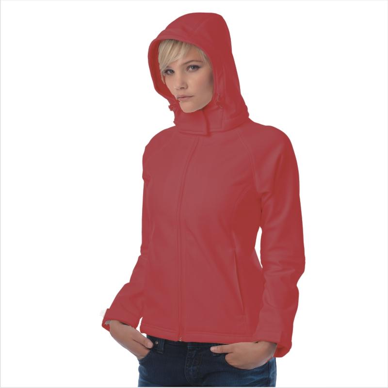 Куртка женская с капюшоном Hooded Softshell/women