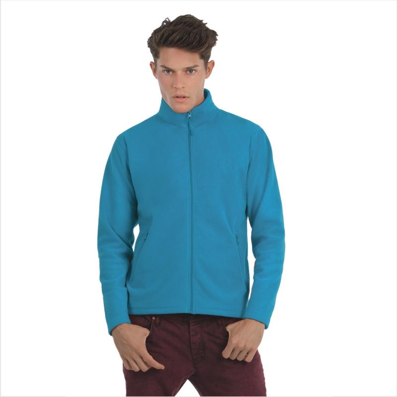 Куртка флисовая ID.501 Цвет черный Размер M Размер L Размер XL Цвет ярко-бирюзовый Размер XL