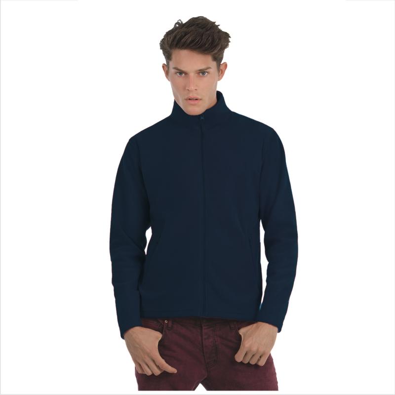Куртка флисовая ID.501 Цвет черный Размер M Размер L Размер XL Цвет ярко-бирюзовый Размер XL Цвет темно-синий Размер M