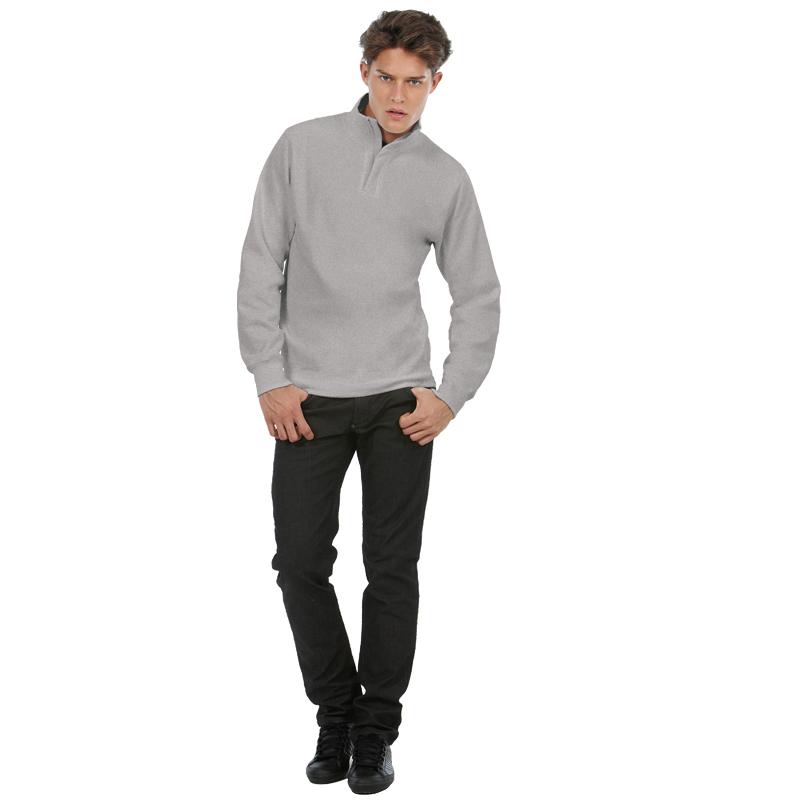 Толстовка ID.004, пестрая серая/heather grey, размер XL
