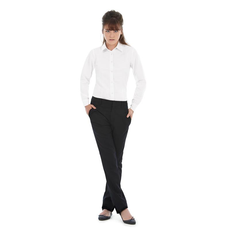 Рубашка женская с длинным рукавом Oxford LSL/women Цвет синий Размер XL Размер L Цвет белый Размер S