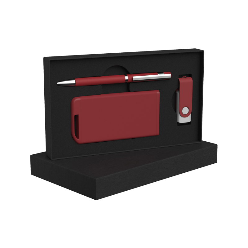 Набор ручка + флеш-карта 8Гб + зарядное устройство 4000 mAh soft touch