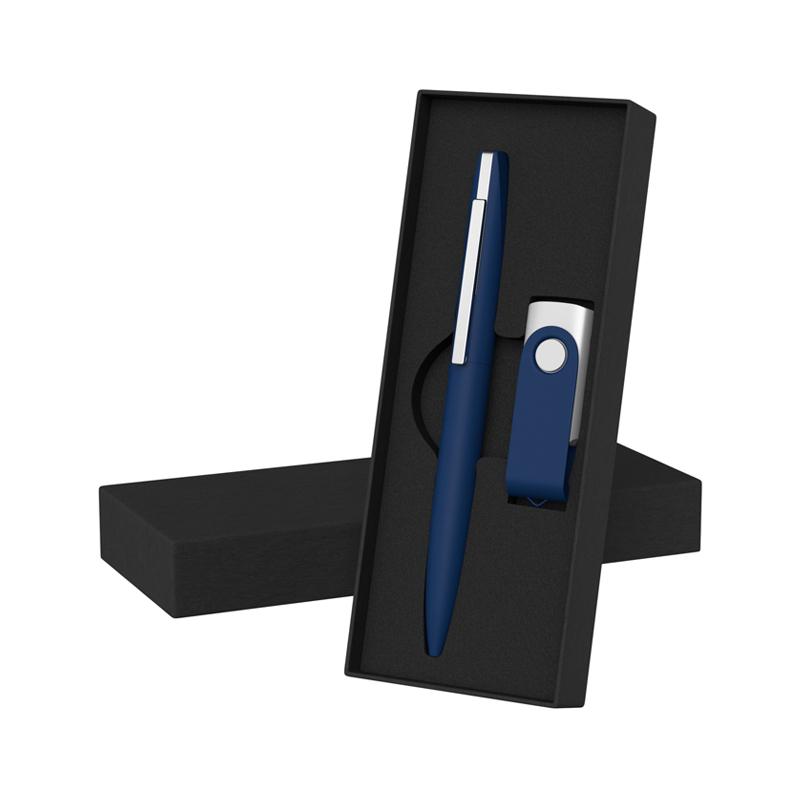 Набор ручка + флеш-карта 8 Гб в футляре, покрытие soft touch