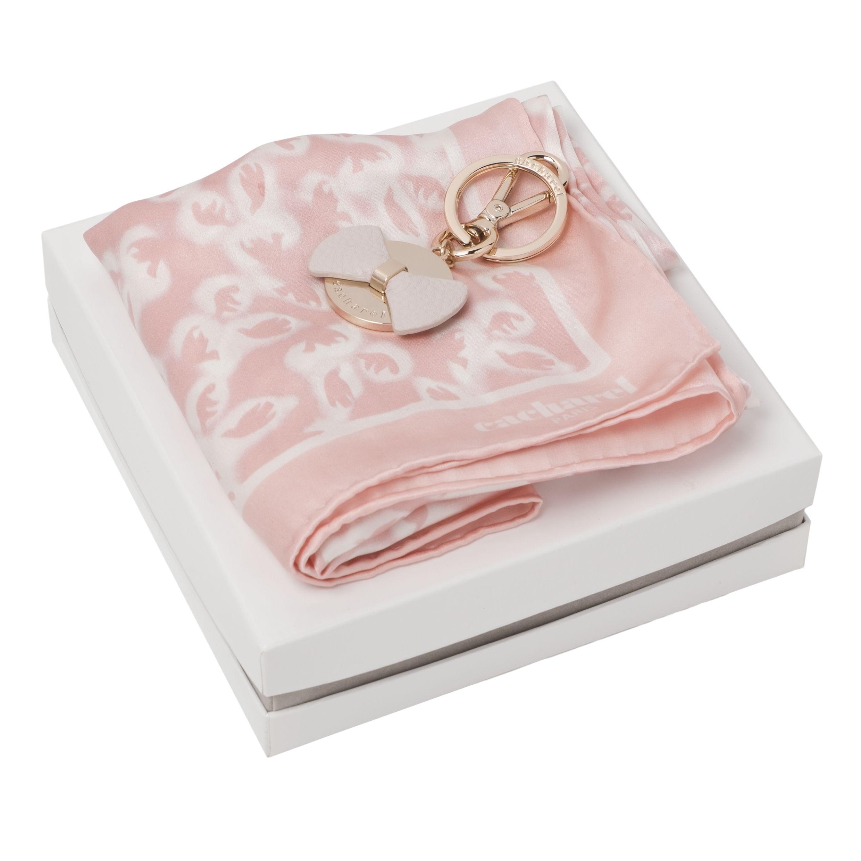 Набор (брелок, платок шейный шёлковый)
