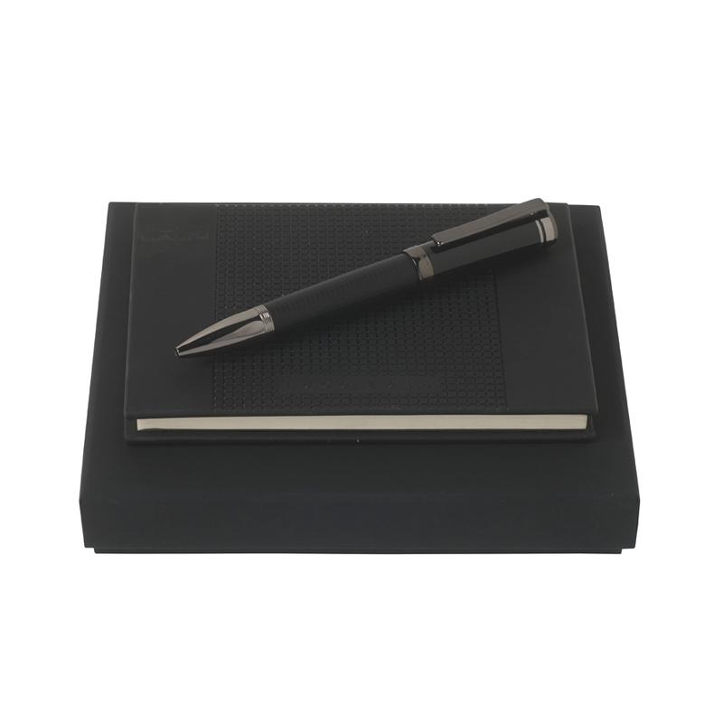 Набор (записная книжка А6, шариковая ручка) Цвет черный