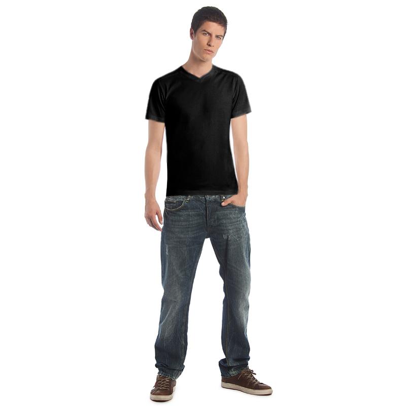 Футболка мужская Men-Shape, черная/black, размер L