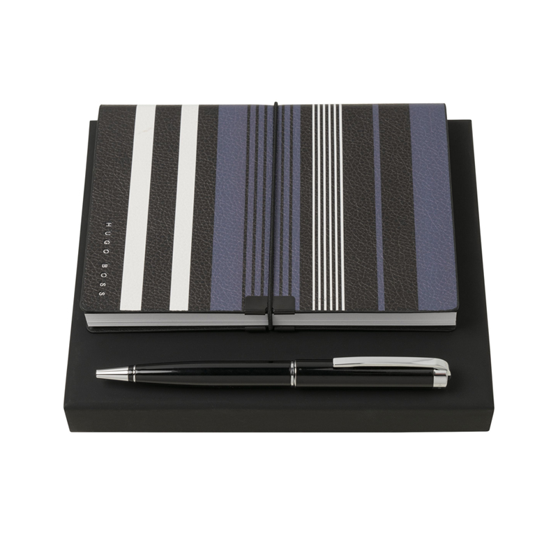 Набор (записная книжка А6, ручка шариковая) Цвет черный